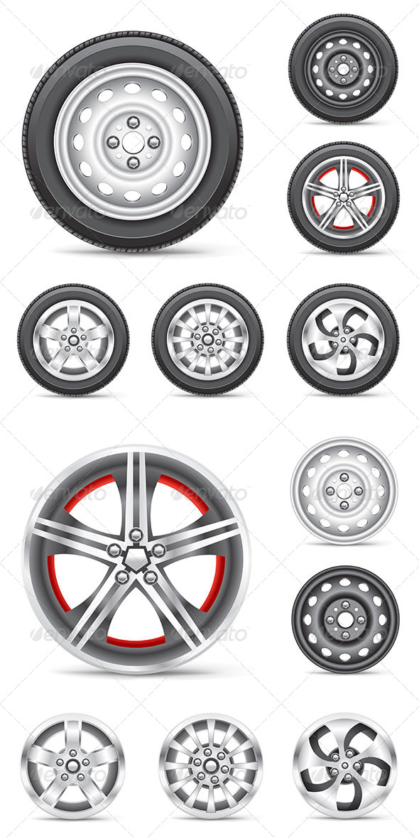 GraphicRiver Wheels Set Collection 8502923