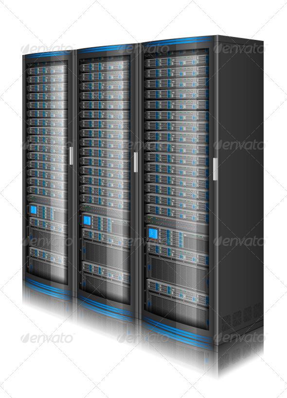 GraphicRiver Row of Servers 8502933
