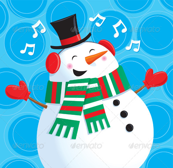 GraphicRiver Happy Singing Snowman 8502973