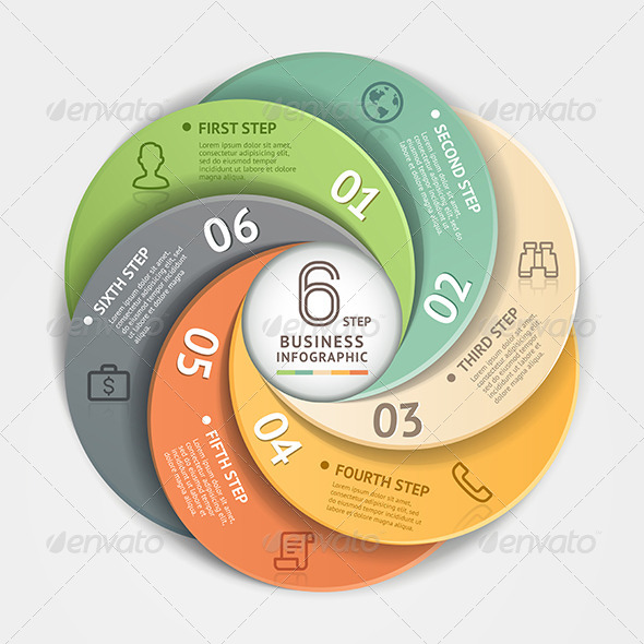 GraphicRiver Modern Infographic Circle Origami Style 8503000