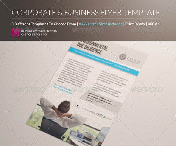 3 Corporate & Business Flyer Templates A4 & Letter