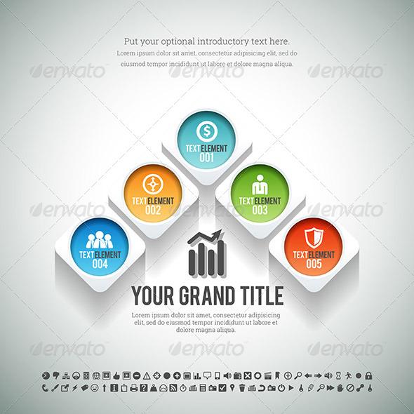 GraphicRiver Arrow Shape Infographic 8503270