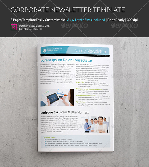 GraphicRiver 8 Page A4 Letter Business and Corporate Newsletter 8437778