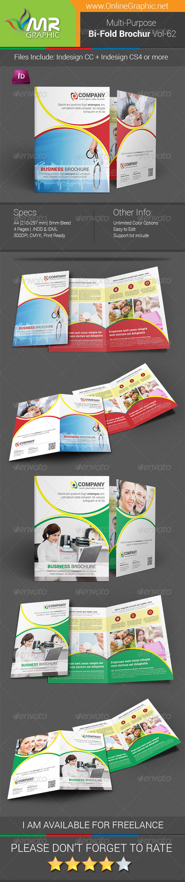 GraphicRiver Multipurpose Bifold Brochure Template Vol-62 8503334