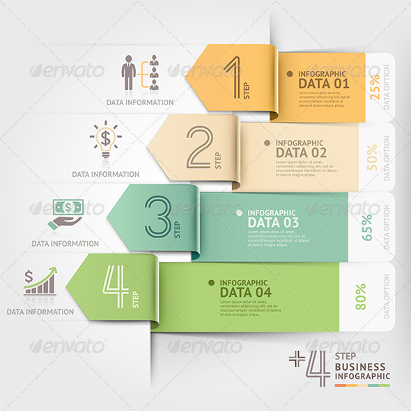GraphicRiver Business Arrow Infographics Template 8503337