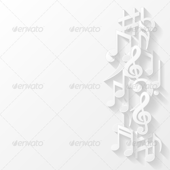 GraphicRiver Abstract Background with Musical Notes 8503349