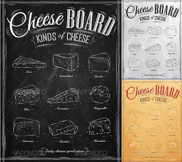 GraphicRiver Poster Set of Cheese 8503371