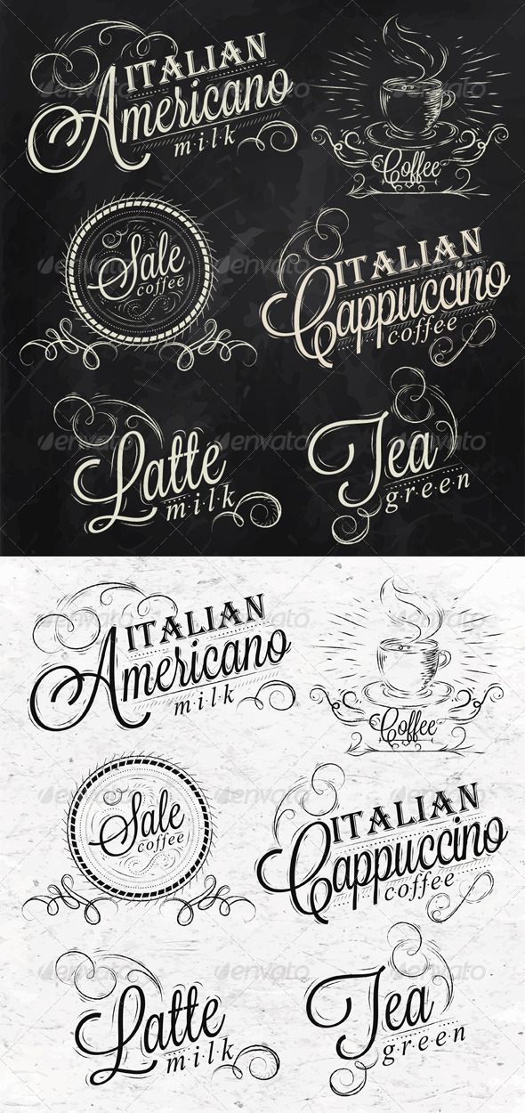 GraphicRiver Names of Coffee Drinks 8503380