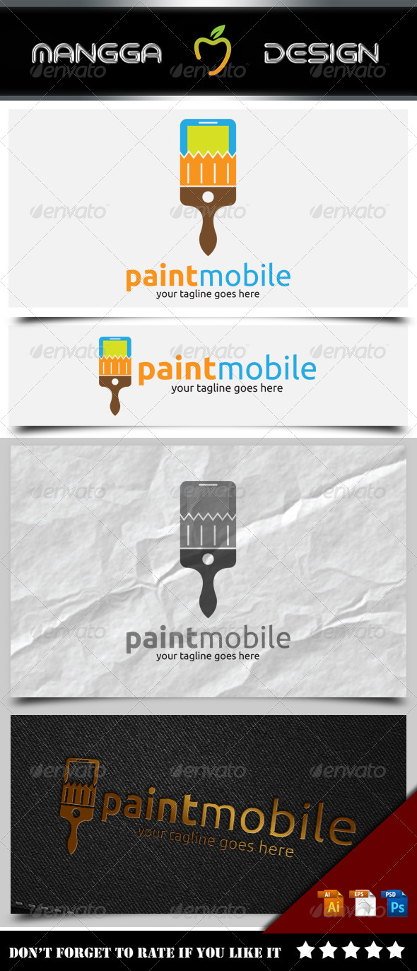 GraphicRiver Paint Mobile Logo 8503441