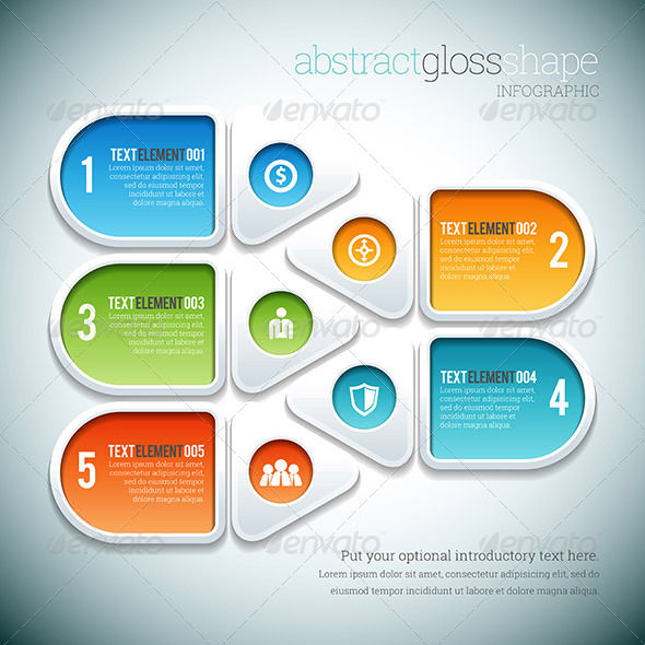 GraphicRiver Abstract Gloss Shape Infographic 8503469