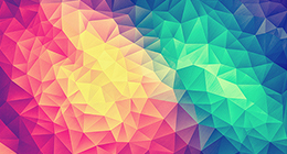 Modern High Contrast Multicolor Polygon Work