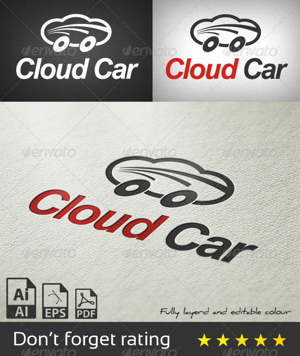 Cloud Car Logo Template