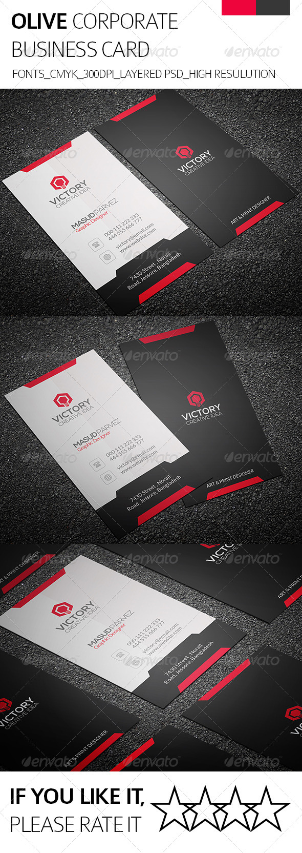 GraphicRiver Olive & Corporate Business Card 8504017