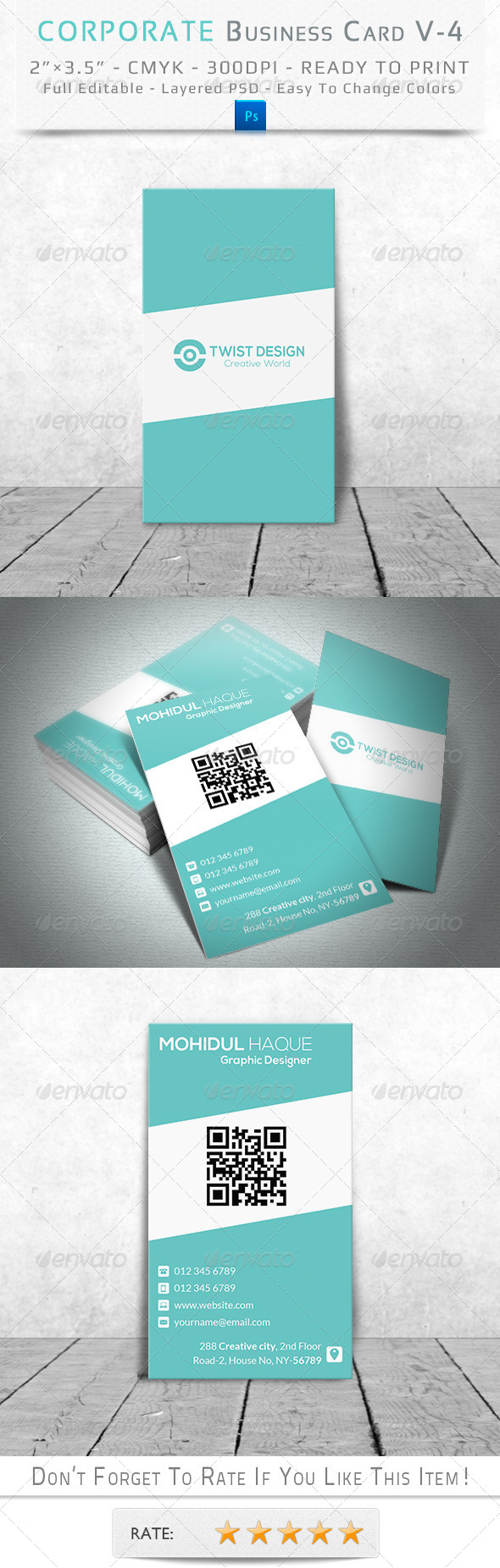 GraphicRiver Corporate Business Card V-4 8498200