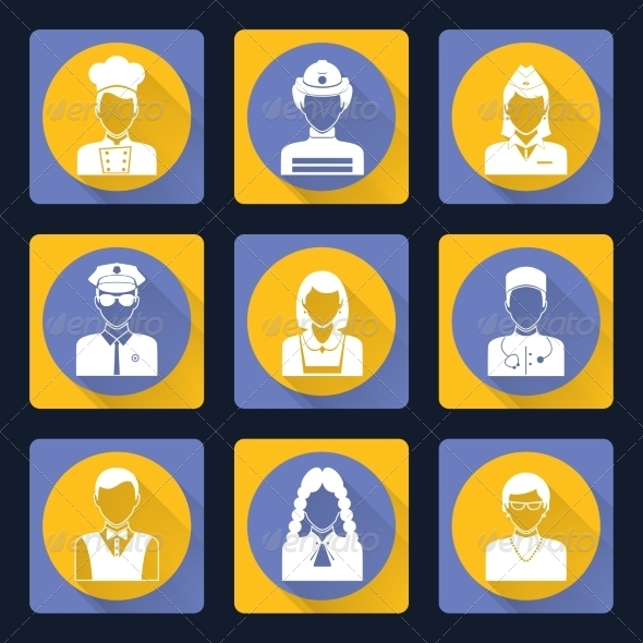 GraphicRiver Avatar Icons Set 8504062