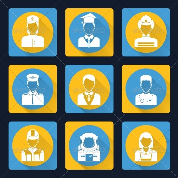 GraphicRiver Professional Avatar Icons Set 8504144