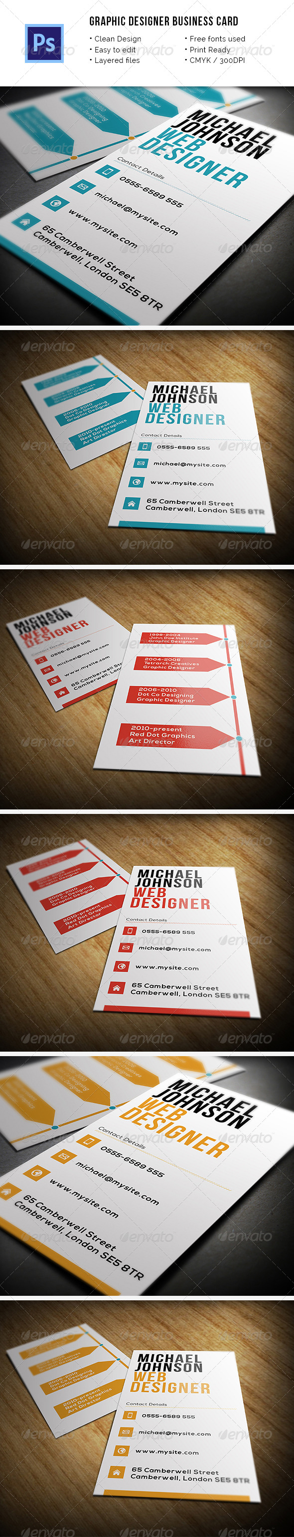Graphic Designer Business Card - Industry Specific Business Cards