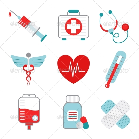GraphicRiver Medicine Icons Set 8504298