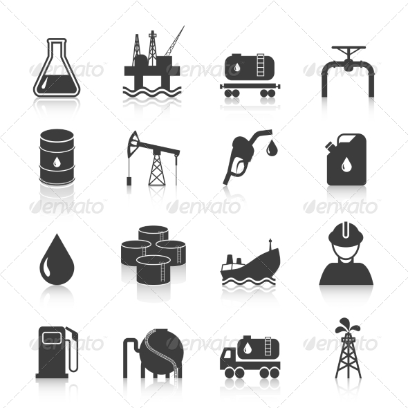 GraphicRiver Oil Industry Icons 8504305