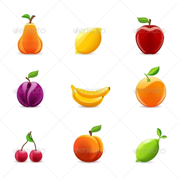 GraphicRiver Set of Fruits Icons 8504318