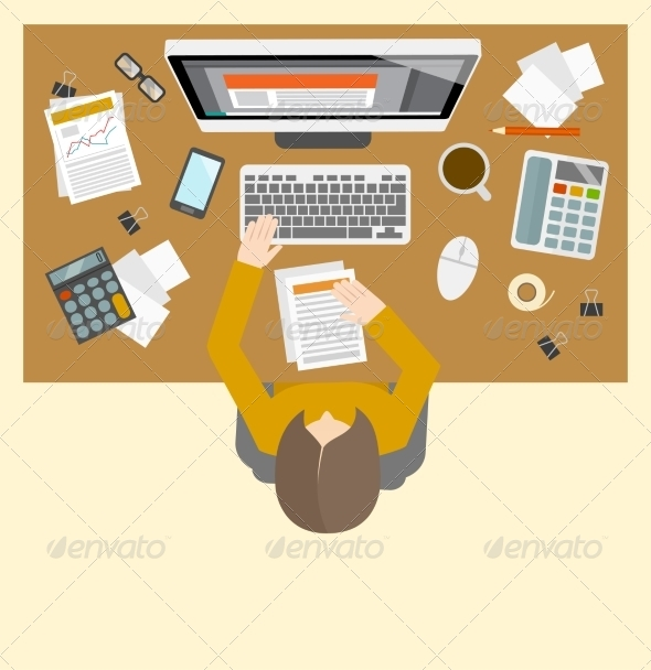 GraphicRiver Accounter Management Workplace 8504321
