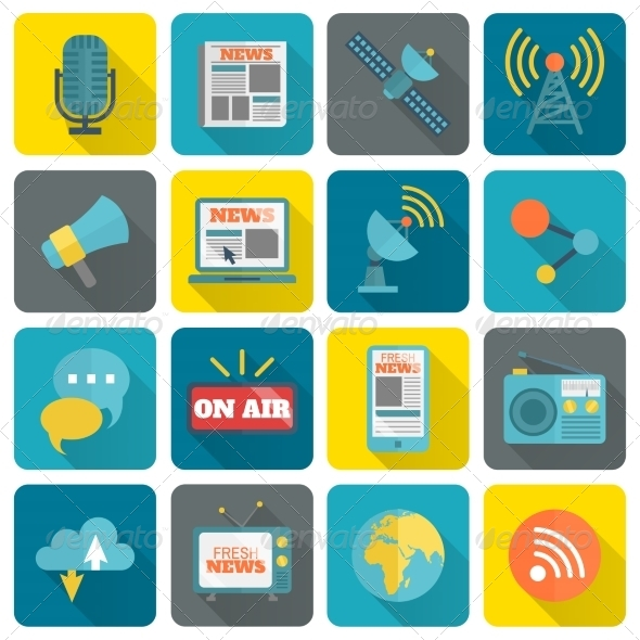 GraphicRiver Set of Media Icons 8504324