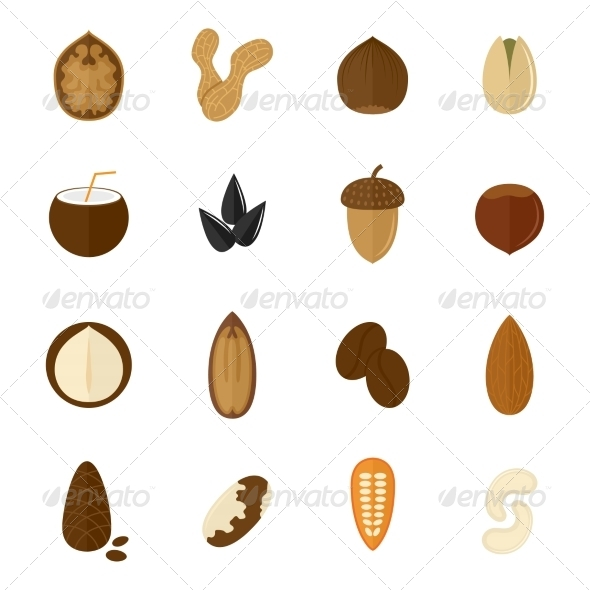 GraphicRiver Set of Nuts Icons 8504325