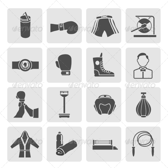 GraphicRiver Set of Boxing Icons 8504327