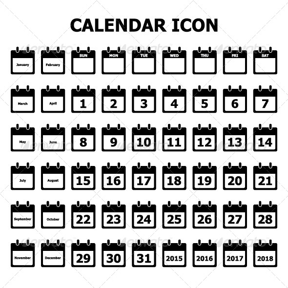 GraphicRiver Calendar Icon 8504407