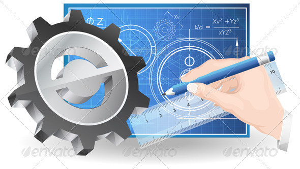 GraphicRiver Technical Drawing Abstract Illustration 8504409
