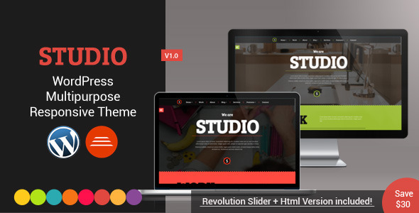 ThemeForest Studio Multipurpose WordPress Theme 8100599