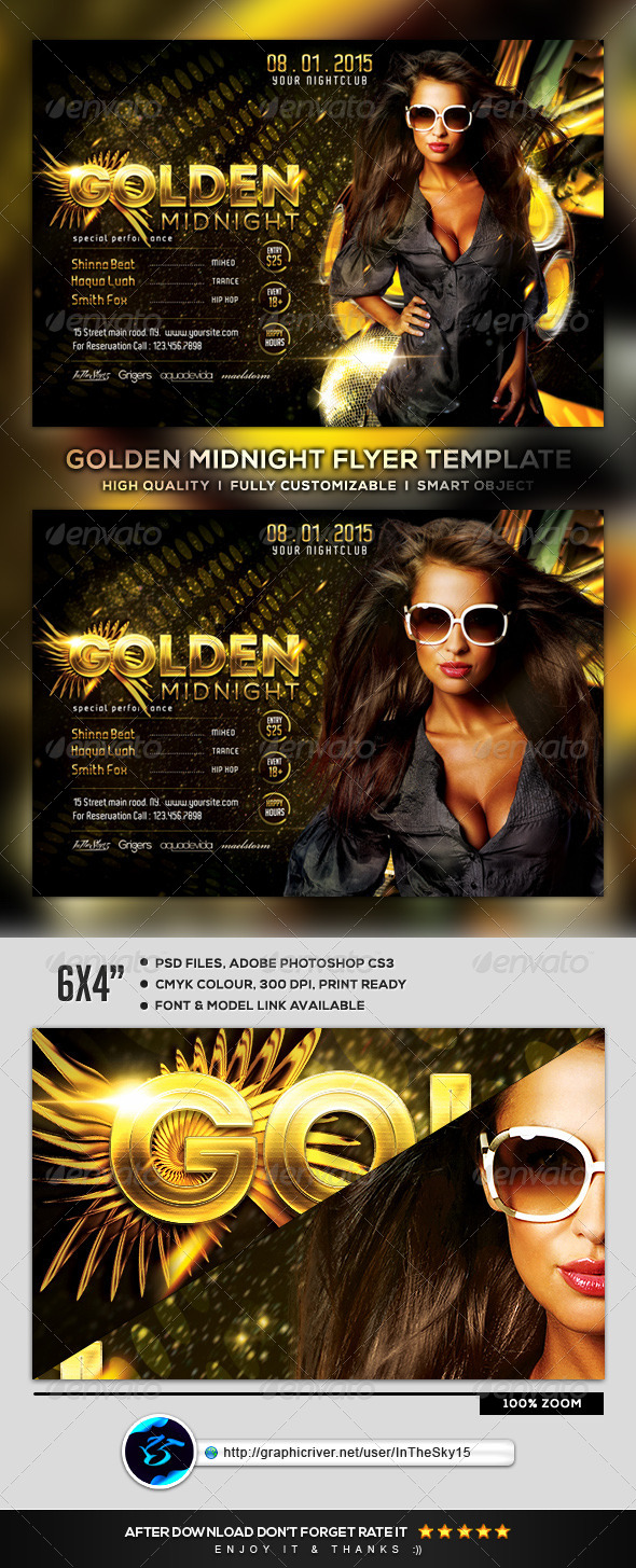 GraphicRiver Golden Midnight Flyer Template 8504485