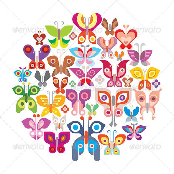 GraphicRiver Butterflies 8504507