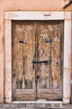 Old wooden door in a stone house Italian - PhotoDune Item for Sale