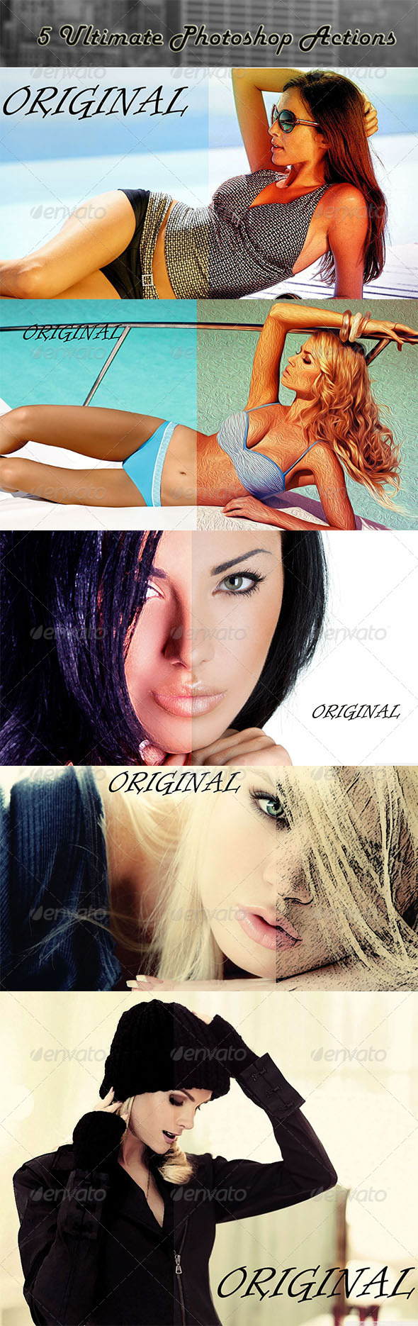 GraphicRiver 5 Ultimate Photoshop Actions 8504594