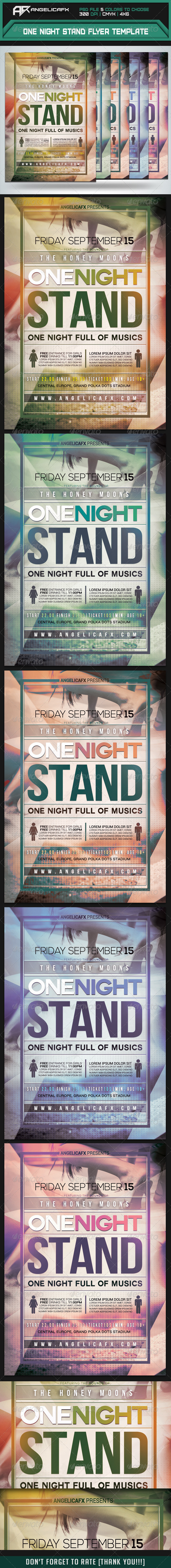 GraphicRiver One Night Stand Flyer Template 8504670