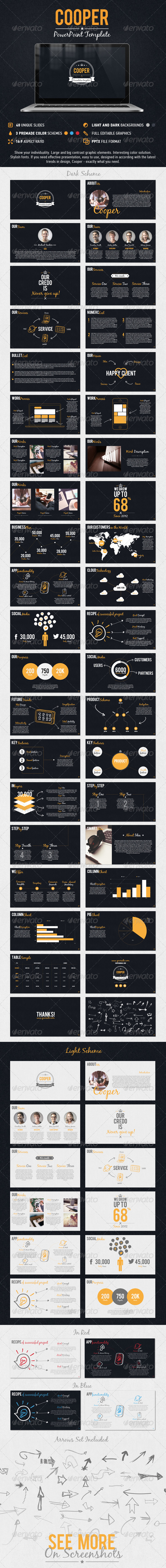 GraphicRiver Cooper PowerPoint Presentation Template 8504687