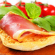Slice of prosciutto on crispy bread - PhotoDune Item for Sale