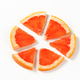 Slice of red grapefruit cut into sixths - PhotoDune Item for Sale
