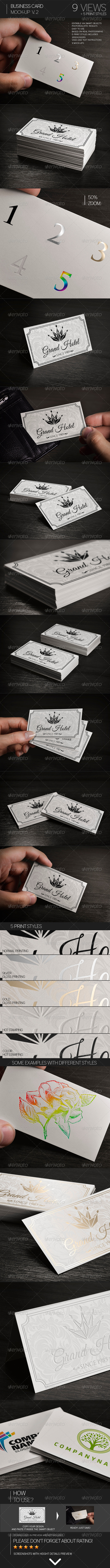 GraphicRiver Business Card Mock-Up Vol.2 8504770