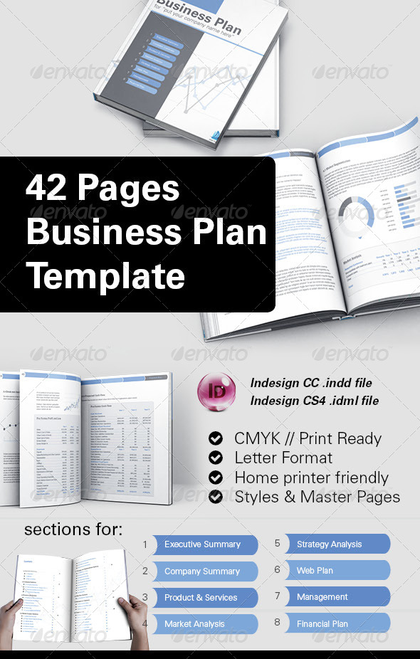 GraphicRiver 42 Pages Business Plan Template 8504828