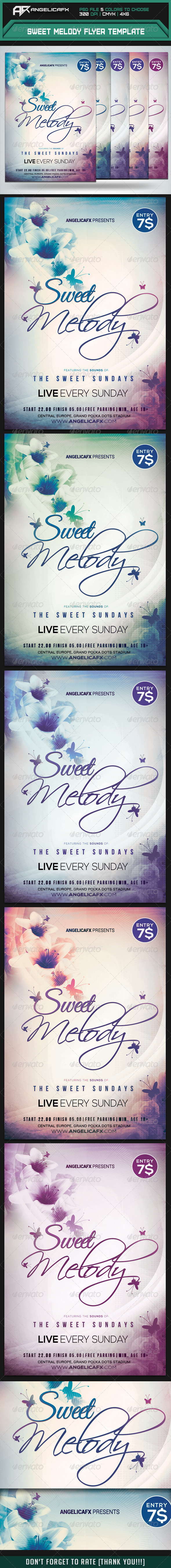 Sweet Melody Flyer Template