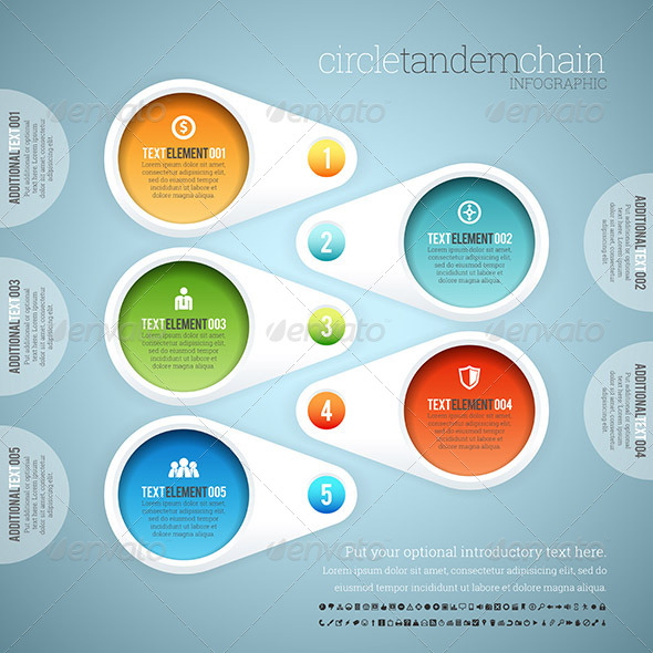 GraphicRiver Circle Tandem Chain Infographic 8504906