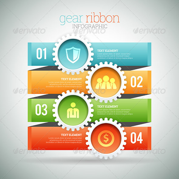 GraphicRiver Gear Ribbon Infographic 8504908