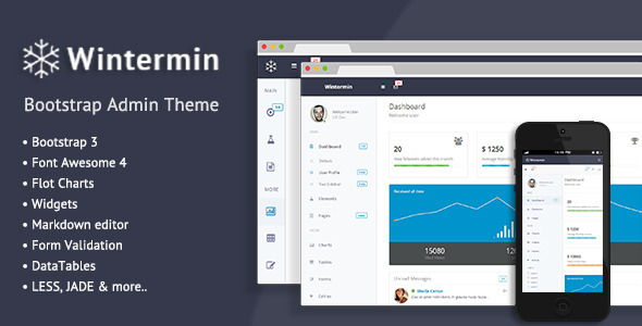 ThemeForest Wintermin Bootstrap Admin Theme 8447093