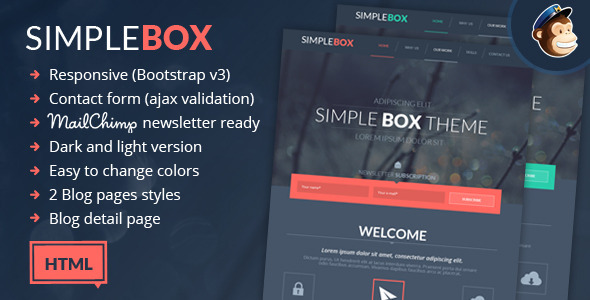 Simple Box - One Page Multi-Purpose HTML Theme - Corporate Site Templates