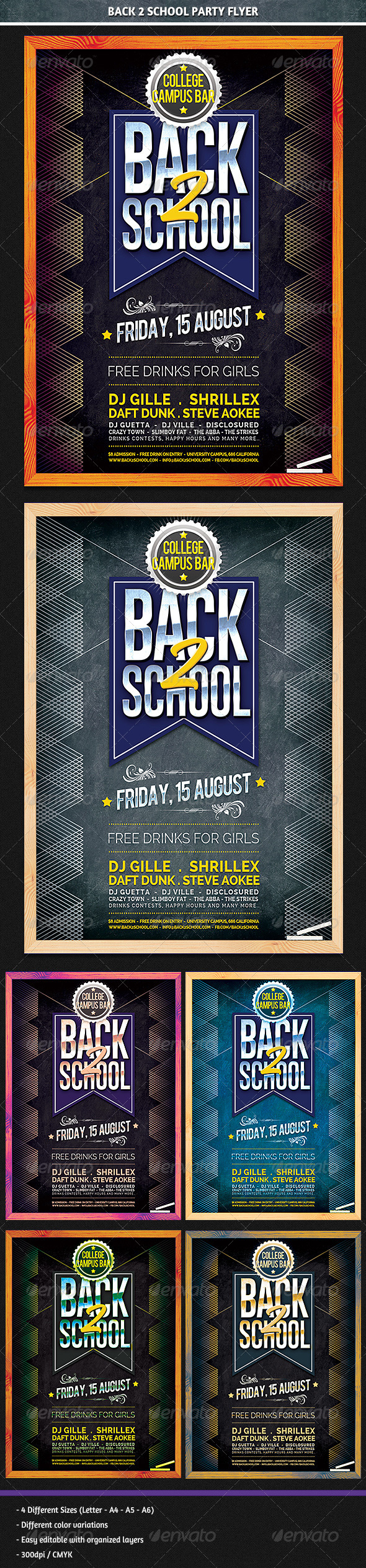 GraphicRiver Back 2 School Party Flyer 8504984