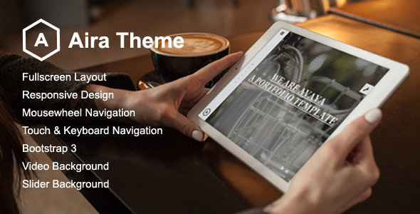 Aira - Fullscreen Portfolio Template - Portfolio Creative