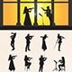 Violinist Silhouettes - GraphicRiver Item for Sale