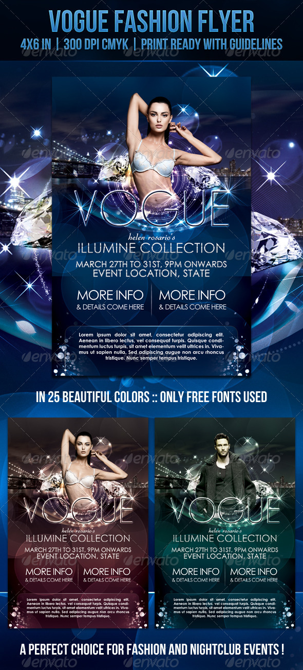 Vogue Fashion Flyer - Clubs & Parties Events